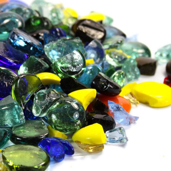 Mosaik Glasbruch Farbmix 1kg (15-35mm)