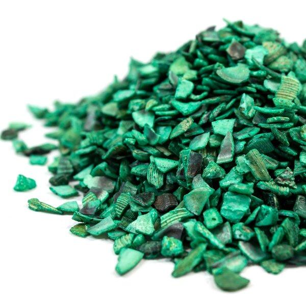 Muschel-Bruch Grün 1kg (3-5mm)