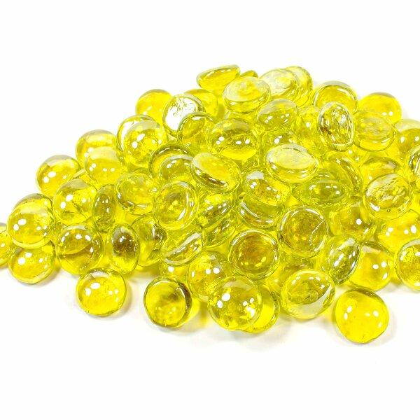 Glasnuggets Shine Goldgelb Irisierend 100g (17-20mm)