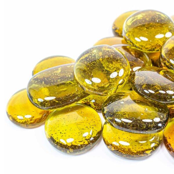 Glasnuggets Crystal Gelb Orange 200g (30-35mm)