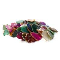 Mosaik Achatbruch angetrommelt Farbmix 100g (4-7cm)