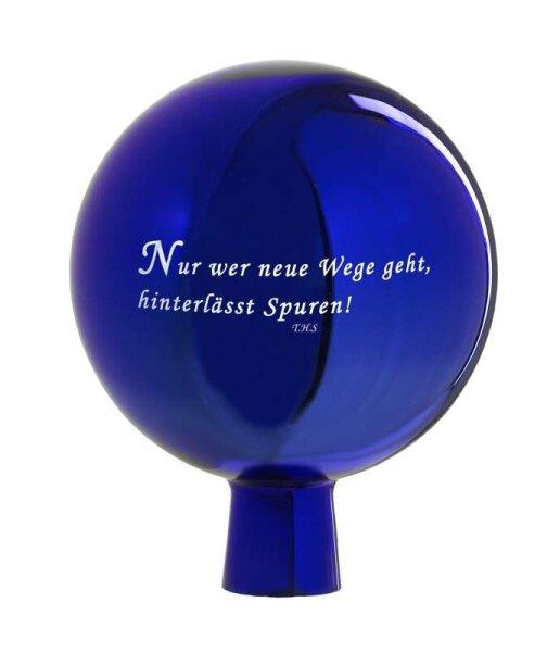 Rosenkugel Spruch Blau 15cm