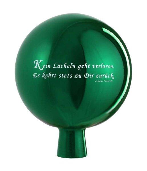 Rosenkugel Spruch Grün 15cm