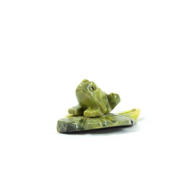 Steinfigur Frosch Quak
