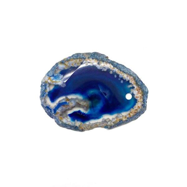 Achatscheibe Blau 2-4 cm gebohrt