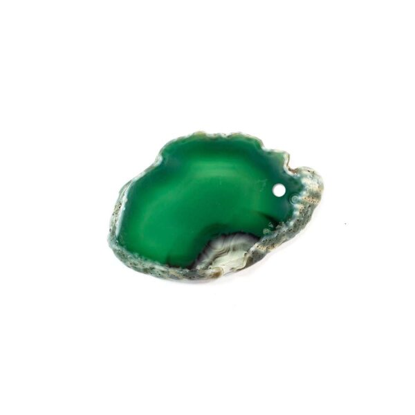 Achatscheibe Grün 2-4 cm gebohrt
