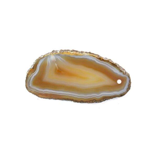 Achatscheibe Natur 4-6 cm gebohrt