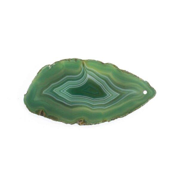 Achatscheibe Grün 8-10 cm gebohrt