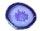 Achatscheibe Lila 10-12 cm gebohrt