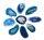 10 Achatscheiben Blau 2-4 cm gebohrt