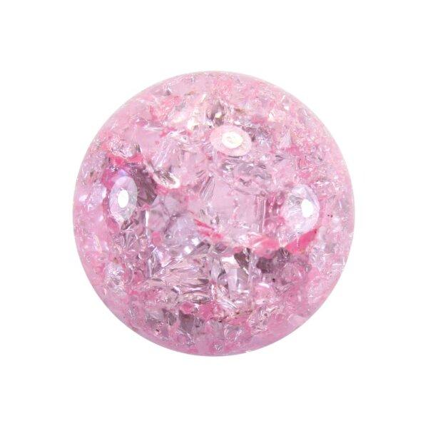 Glaskugel Effektsplitt Rosa (40mm)