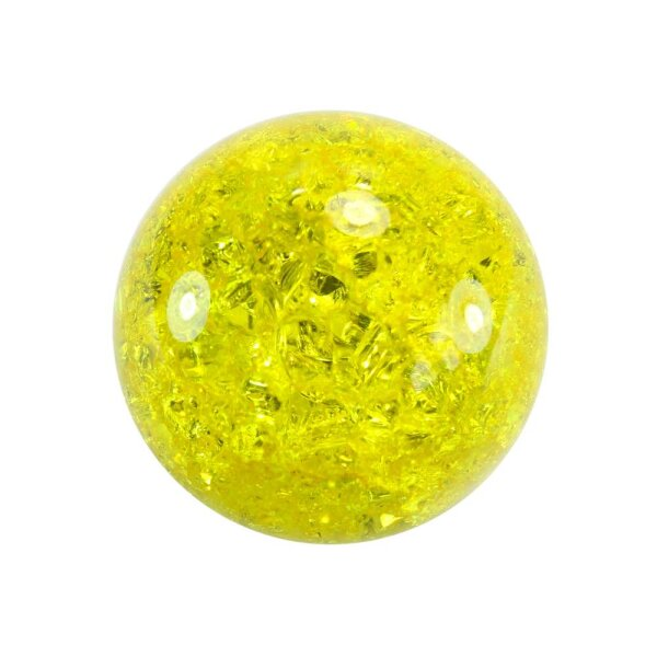 Glaskugel Effektsplitt Zitronengelb (50mm)