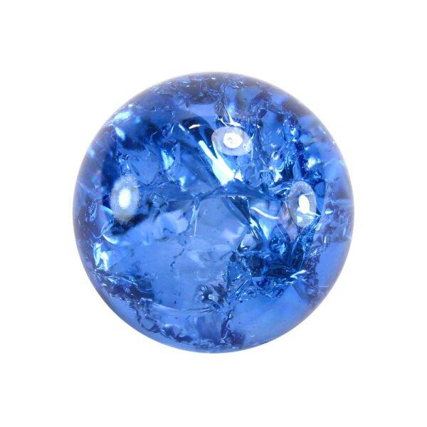 Glaskugel Effektsplitt Blau (50mm)