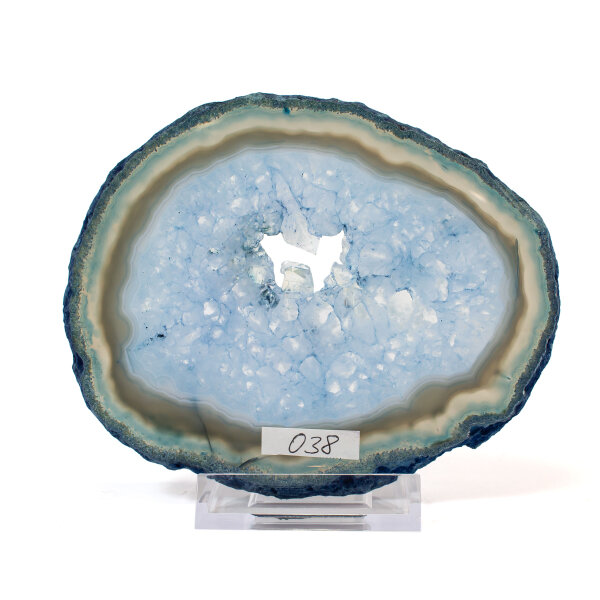 Achatscheibe Single Blau ca. 13cm - 176g