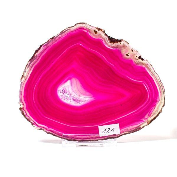 Achatscheibe Single Pink ca. 16,8 cm - 206 g