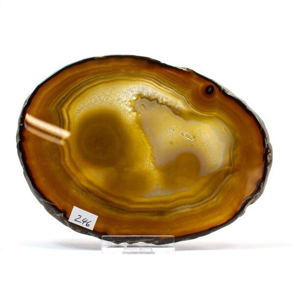 Achatscheibe Single Natur 15,2cm - 234g inkl. Rand geschliffen