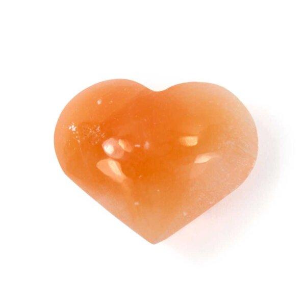 Selenit Herz - apricot