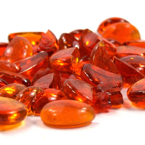 Mosaik Glasbruch Crystal Orange 100g (5-20mm)