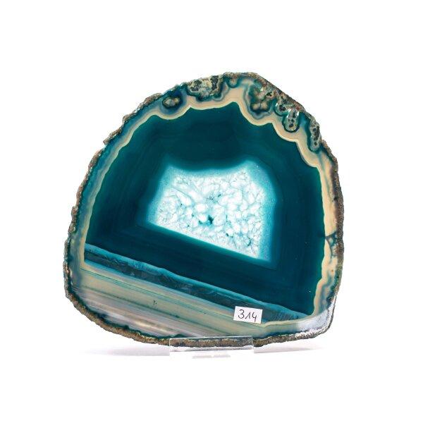 Achatscheibe Single Blau ca. 15,8cm - 214g