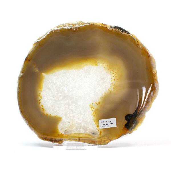 Achatscheibe Single Natur 13,8cm - 243g inkl. Rand geschliffen