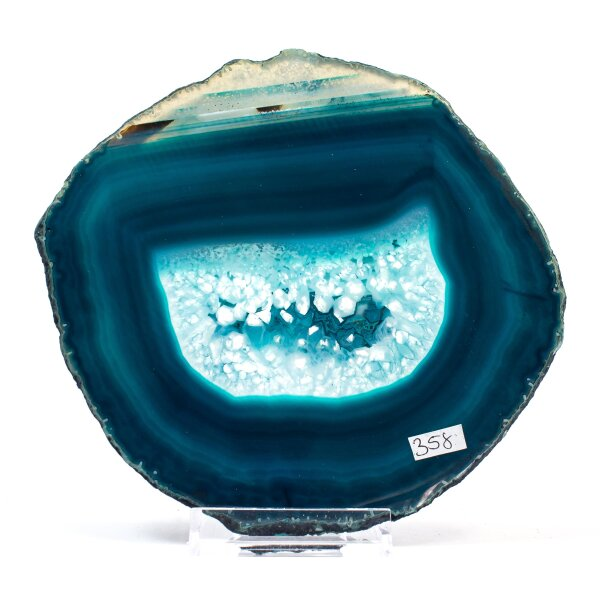 Achatscheibe Single Blau ca. 17cm - 313g