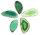 1 gebohrt Achatscheibe grün 4-6 cm II. Wahl