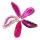 1 gebohrt Achatscheibe pink 6-8 cm II. Wahl