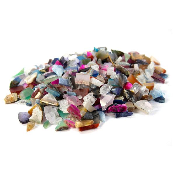 Mosaik Achatbruch Farbmix 100g ( 0,2-2 cm)