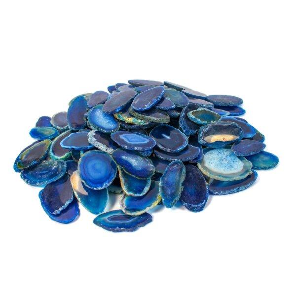 1 Achatscheibe blau 4-6 cm II. Wahl