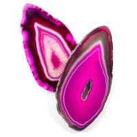 1 Achatscheibe pink 6-8 cm II. Wahl