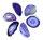 1 Achatscheibe lila 6-8 cm II. Wahl