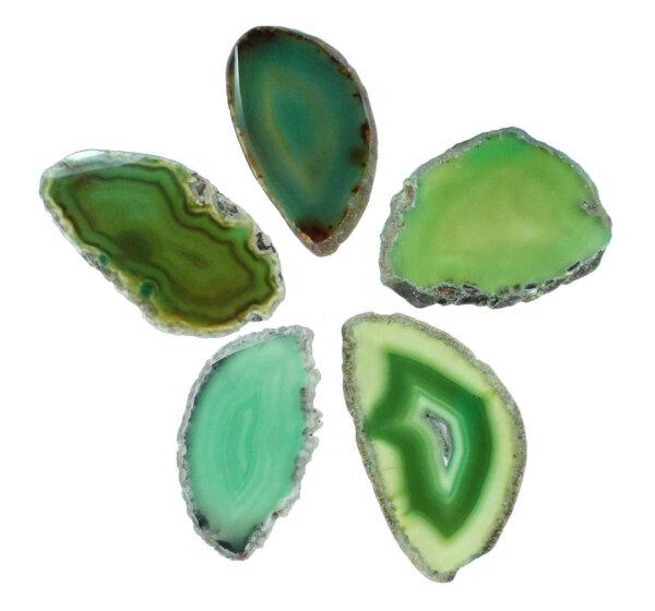 1 Achatscheibe grün 4-6 cm II. Wahl