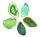 1 Achatscheibe grün 8-10 cm II. Wahl