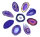 1 Achatscheibe lila 8-10 cm II. Wahl