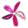1 Achatscheibe pink 10-12 cm II. Wahl