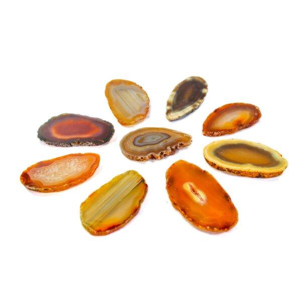1 Achatscheibe natur 10-12 cm II. Wahl