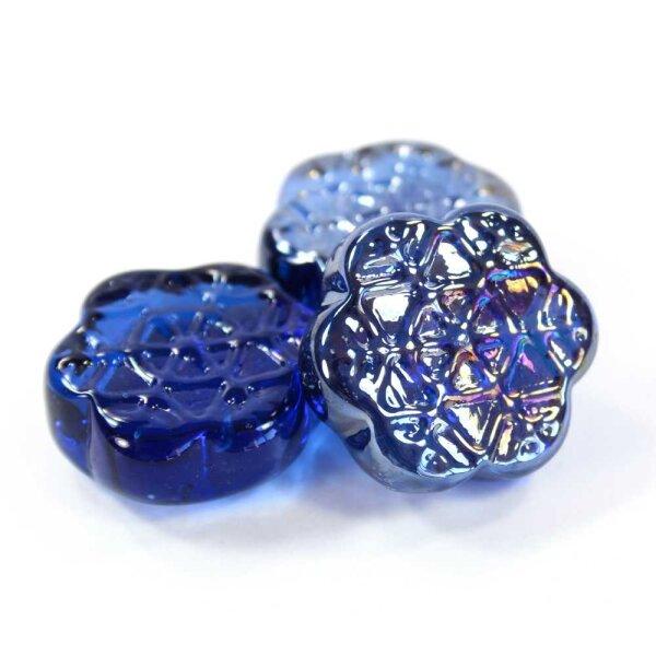 Motivnuggets Shine Schneeflocke Kobaltblau