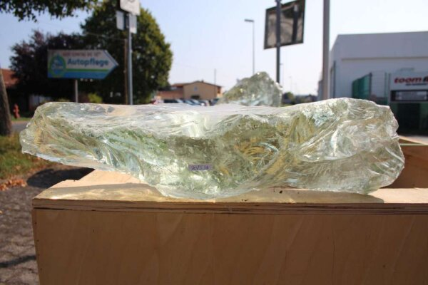 Glasbrocken Single Glasklar grünlich 13,62 kg