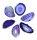 1 Achatscheibe lila 2-4 cm II. Wahl