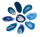 1 gebohrt Achatscheibe blau 2-4 cm II. Wahl