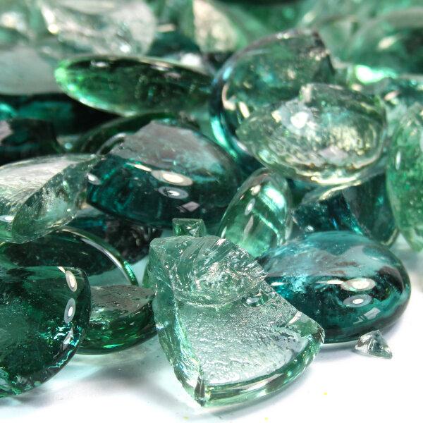 Mosaik Glasbruch Crystal Pastellgrün, Türkis & Glasklar 1kg (15-50mm)