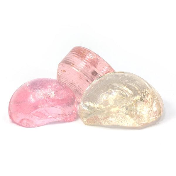 Mosaikbruch Glasbrocken Pastellapriko-pink 5kg Mix (40-80mm)
