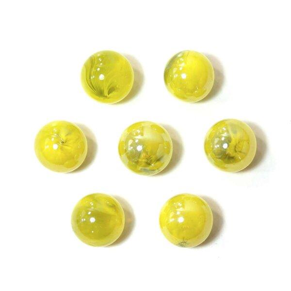 Glasmurmeln Shine Gelb marmoriert Irisierend 100g (16mm)