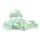 Glaskugel Shine Glasklar Grünlich irisierend (35mm)