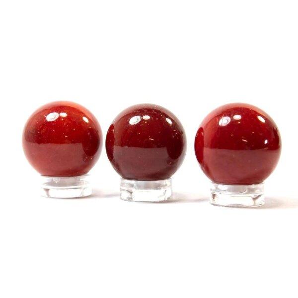 Glaskugel Opak Rot (25mm)