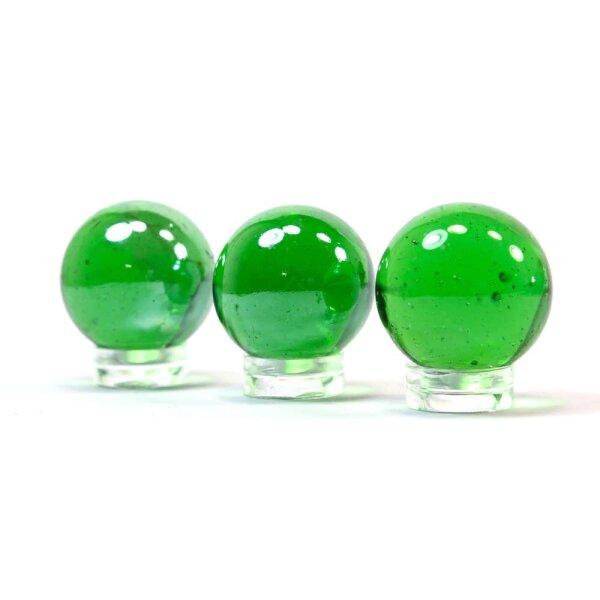 Glaskugel Shine Grün irisierend (25mm)