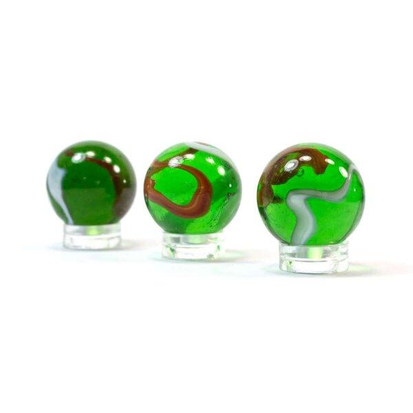 Glaskugel Crystal Grün gebändert (25mm)