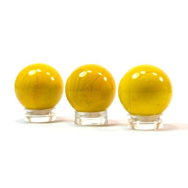 Glaskugel Opak Gelb (25mm)