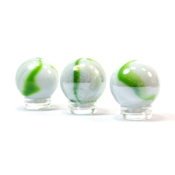 Glaskugel Opak Weiß gebändert (25mm)