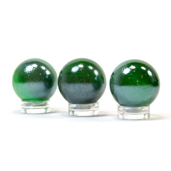 Glaskugel Shine Dukelgrün irisierend (25mm)